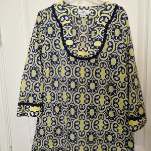 Vineyard Vines Pullover Tunic Coverup Small Print